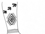 Foot Henna Designs Sketch on Paper