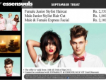 Female Junior Stylist haircut, Junior Stylish Hair Cut, express facial