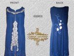 Lubna Naveed blue Sleeveless Open Panel Shirts, Pakistan Fashion Lounge