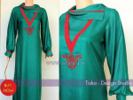 Tiska Winter Dresses 2014 For Girls