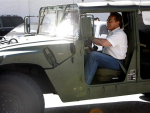 Arnold Schwarzenegger luxury car Hummer photos