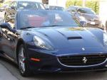 Djimon Hounsou & Kimora Lee Simmons Ferrari California luxury car photos