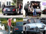 Hollywood Superstars with their luxury cars