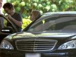 Kate Hudson & Matt Bellamy luxury car Mercedes-Benz S-Class photos