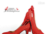Red Bridal High Heel Shoes For Wedding
