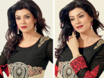 Sushmita Sen Girls Anarkali Frocks 2014