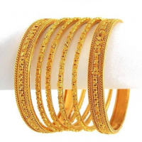 Latest Women Gold Bangle Designs