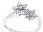 Unique Women White Gold Diamond Rings