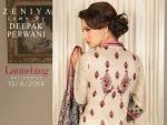 Deepak Parwani Zeniya Lawn Dresses 2014