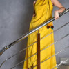Yellow Women Casual Wear Dresses 2014
