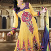 Yellow Lawn Dresses 2014 For Yonung Girl On Eid-Ul-Fitr