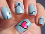 Heart Nail Art Designs 2014 For Women