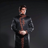 Fashion of Black Sherwani Pakistani Grooms 2014
