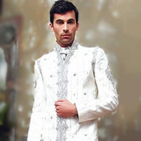 Fashion of White Sherwani for Pakistani Groom 2014