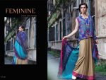 Shariq Textiles Feminine Winter Shawl Dresses 2014