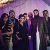 Junaid Jamshed holding Hadiqa Kiyani's hand