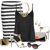 White & Black Styles Party Wear by Polyvore Combos