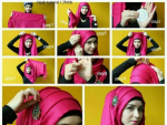 Latest Simple Hijab Style for Young Girls 2015