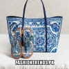 Dolce & Gabbana Blue and White Combination Shoes and Handbags Collection 2015