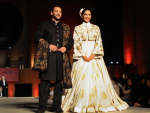 Salman and Sonam Walks On Ramp at Khadi Fashion Show