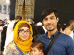 Dua Malik peformed Umrah with her Family