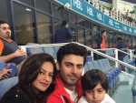 Fawad Khan with Family at PSL Opening Ceremony in Dubai