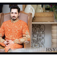 HSY Winter Wedding Menswear Sherwani Collection 2016-2017