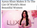 Ayeza Khan is in the list of World's most Beautiful Women