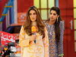 Sanam Saeed and Iman Ali in Jeeto Pakistan