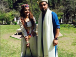 Saba Qamar and Yasir Hussain Get Cozy On The Sets Of Their Upcoming Film
