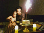 Fahad Mustafa 33rd birthday with his daughter