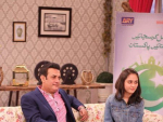 Shahood Alvi and His Daughter In Good Morning Pakistan