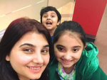 Javeria Saud with Her Family in USA