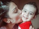 Ayeza Khan Enjoying Rainy With Baby Hoorain