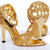 Latest Bridal Golden High Heels 2016