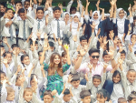 Sajal Ali and Feroze Khan with Special Children