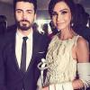 Fawad Khan threw award given by Model Fouzia Amman