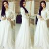 Pakistani Eid Trend White Dresses 2016