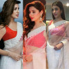 Pakistani Celebrities White Saree Trend