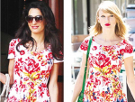 Amal and Taylor Wearing Same Dresses