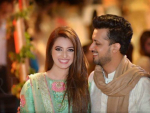 Atif Alsam with Wife at Wedding Ceremony in Lahore