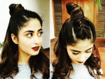 Sajal Ali Clicks Bold In Burgundy