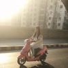 Urwa Hocane Riding Scooty On Streets Of Karachi