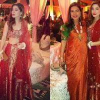 Ayesha Omar looks Glamorous in Red Lehnga