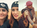 Momina Mustehsan with her Parents in UAE
