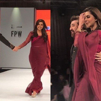 Nida Yasir and Yasir Nawaz ramp Walk at FPW 2017