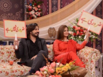 Noor Bukhari with her fourth Husband in Good Morning Pakistan