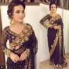 Sumbal Iqbal Looks Glamorous in Black Saree