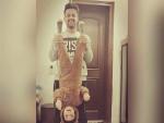 Atif Aslam with his Son Ahad Atif Aslam