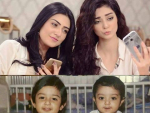 Sarah Khan and Noor Khan Childhood Pictures